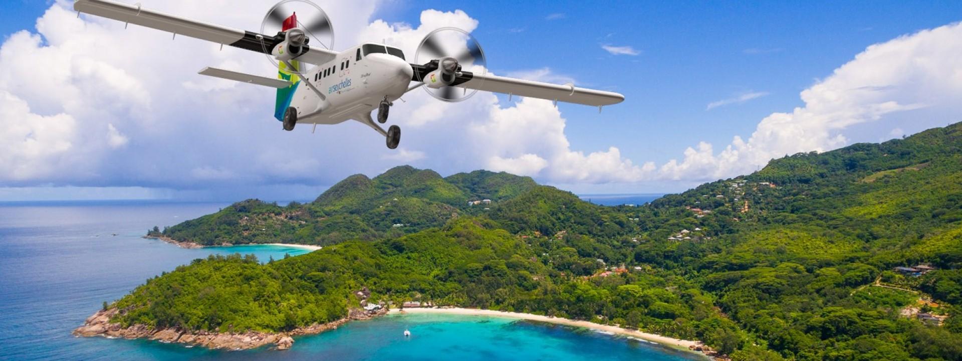 Voli panoramici Air Seychelles verso il nulla intorno a Mahé