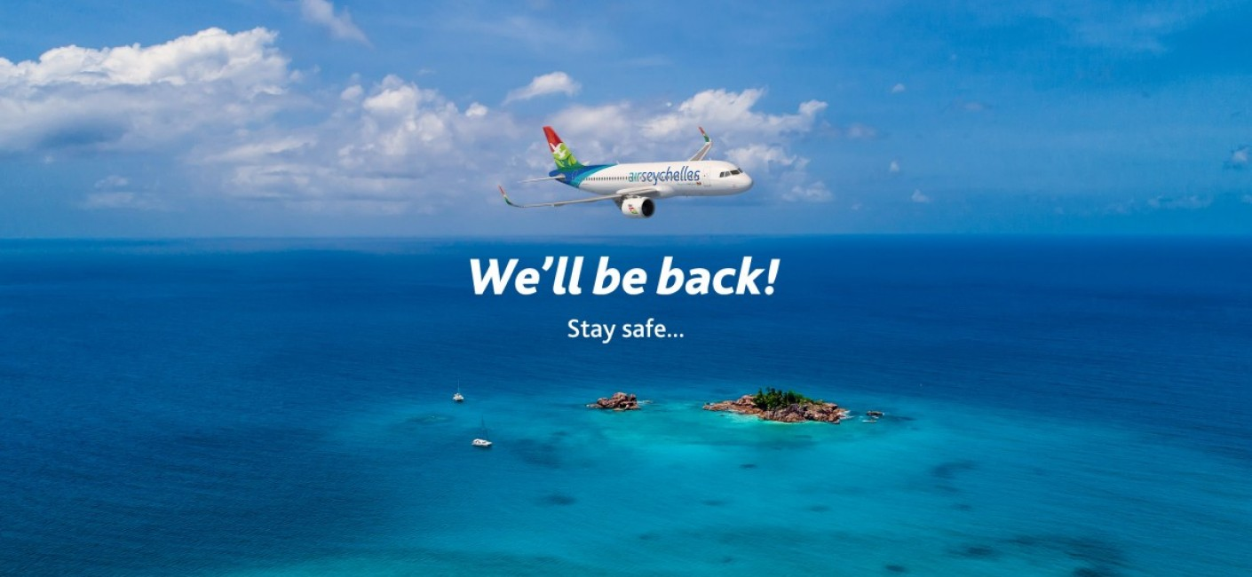 Air Seychelles COVID-19 Flights We'll Be Back Stay Safe