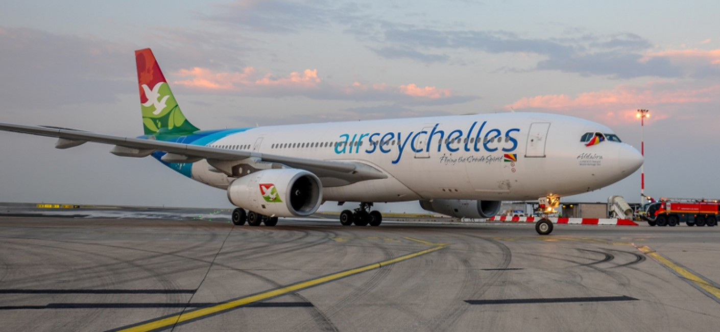 Air Seychelles HM16, first direct flight from Seychelles to Paris arrives in CDG on 2 July, 2015