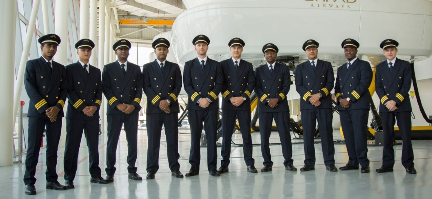 Ten Seychellois pilots at the Etihad Airways Training Centre in Abu Dhabi