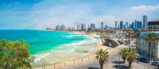 Küstenlinie von Tel Aviv